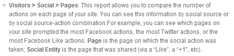 Social Pages Report Google Analytics